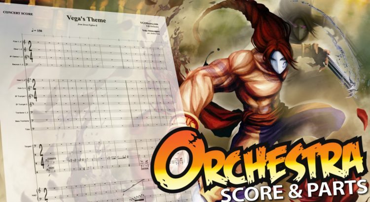 "Street Fighter: ""Vega's Theme"" – Orchestral Cover – Score"